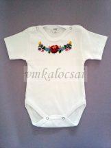 Kalocsai hímzésű baba body