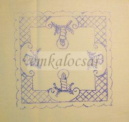 """Karácsonyi """"rácsos"""" előnyomott terítő (DKT181829)"""