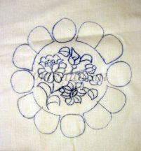 Kamillás előrajzolt alátét (DRT151524)
