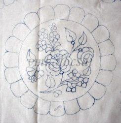 Kerek 26 cm előrajzolt terítő (DRT26267)