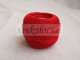 Piros perlé fonal