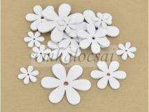 Fa virág különböző méretek fehér
