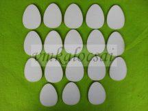 Fehér fa tojás 4,5x6cm