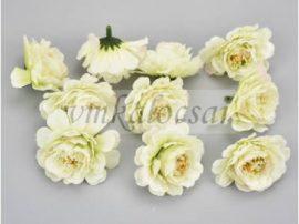 Zöldes fehér fodros virágfej