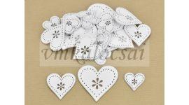 Virágdíszes szív fehér vegyes