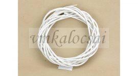 Fehér vessző koszorú 20cm